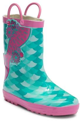 LILLY OF NEW YORK Mermaid Rain Boot (Little Kid)