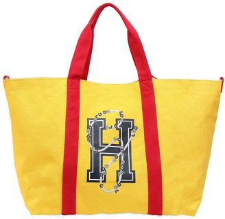 H Logo Canvas Tote Bag Gigi Hadid $125 thestylecure.com