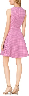 Michael Kors Gingham Wool Dance Dress