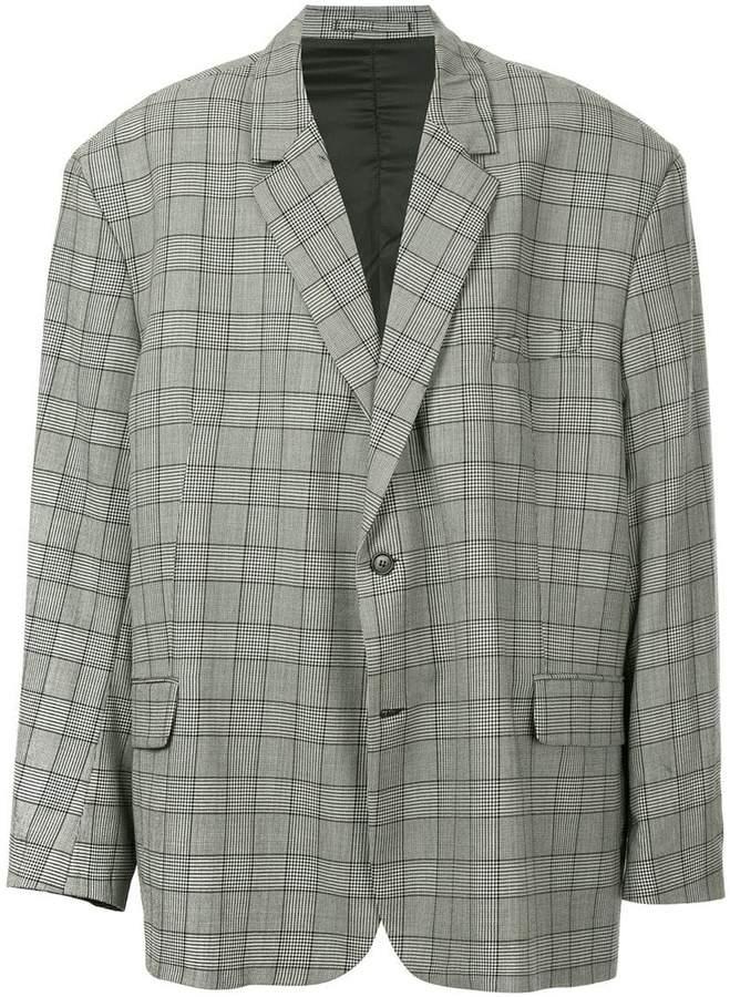 Hed Mayner oversized check print blazer