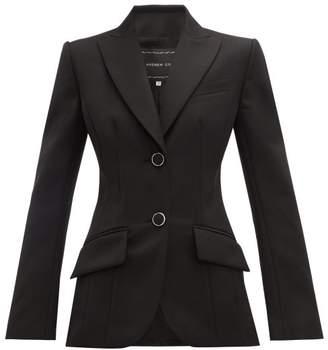 Andrew Gn Single Breasted Wool Twill Blazer - Womens - Black