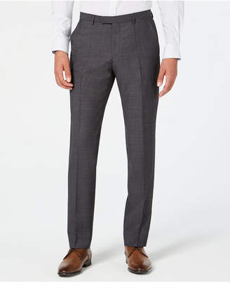 HUGO BOSS HUGO Men's Modern-Fit Dark Charcoal Suit Pants