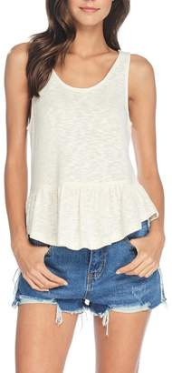 Anama Heathered Peplum Tank