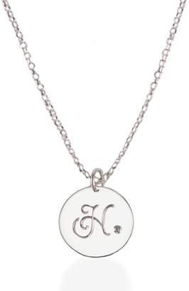 Harry Rocks - Sterling Silver Initial Necklace with Diamond
