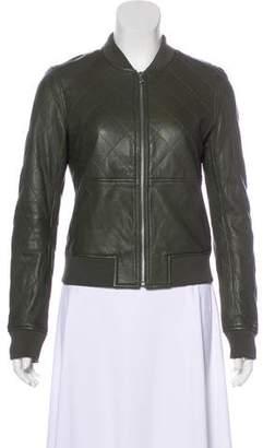 Paige Zip-Up Leather Jacket