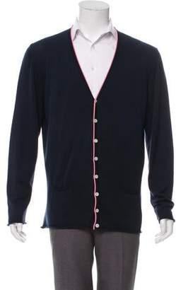 DSQUARED2 Rib Knit V-Neck Cardigan