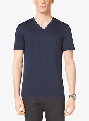 Michael Kors V-Neck Cotton T-Shirt $75 thestylecure.com