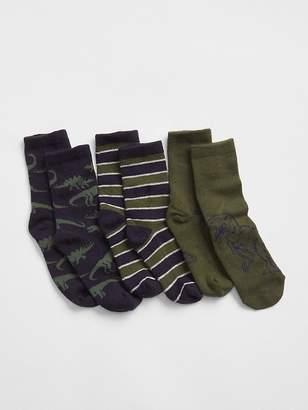 Gap Dino Crew Socks (3-Pack)