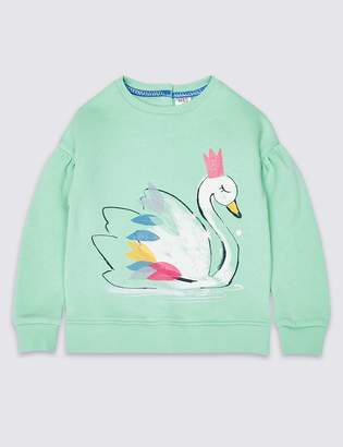 Marks and Spencer Easy Dressing Swan Sweatshirt (3 Months - 7 Years)