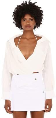 Jacquemus Cotton Blend Crossed Shirt