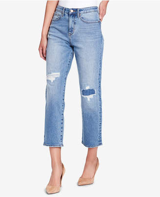 William Rast HighRise So Cheeky Cropped Ripped Jeans