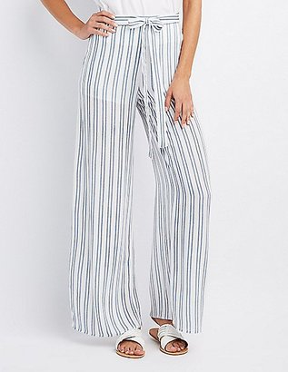 Striped Tie-Front Palazzo Pants $26.99 thestylecure.com