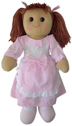 Little Ella James Pink Gingham Rag Doll