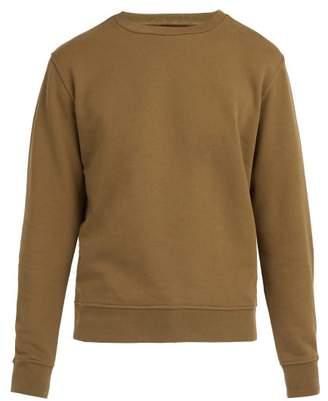 Maison Margiela Elbow Patch Cotton Sweatshirt - Mens - Green