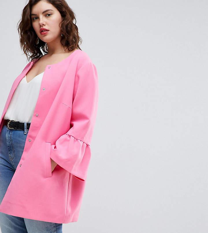 – Jacke mit ausgestellten Ärmeln