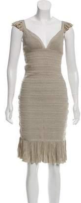 Oscar de la Renta Metallic Bodycon Dress w/ Tags