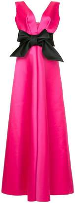 Dice Kayek plunge neck bow front gown