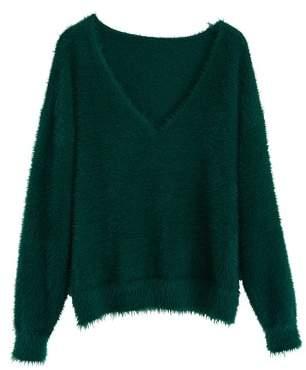 MANGO Faux fur knit sweater