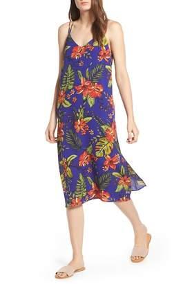 Lush Strappy Floral Print Midi Dress