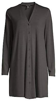 Eileen Fisher Women's Button Front Duster Cardigan