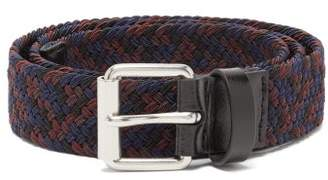 Paul Smith Elasticated Webbing And Leather Belt - Mens - Multi