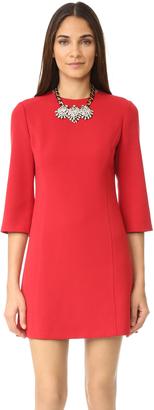 alice + olivia Gem 3/4 Sleeve Shift Dress $298 thestylecure.com