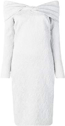 Oscar de la Renta textured cocktail dress