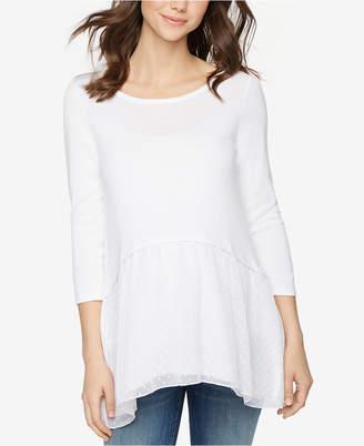 Design History Maternity Handkerchief-Hem Sweater $88 thestylecure.com