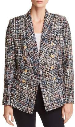 Aqua Tweed Double-Breasted Blazer - 100% Exclusive