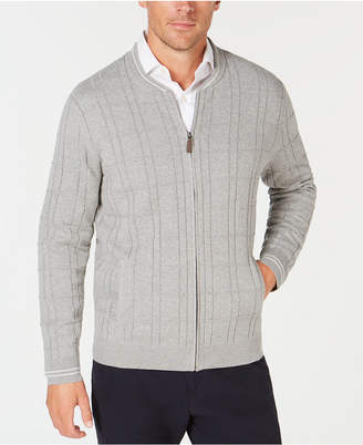 Club Room Men's Ribbed Zip-Front Cardigan, Created for Macy's