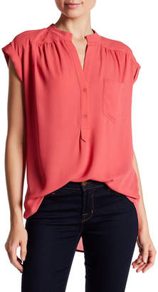 Pleione Short Sleeve Kim Blouse $64 thestylecure.com