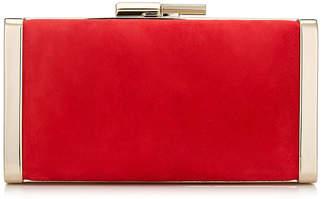 1cbd89cc4a9ba Jimmy Choo J BOX Red Suede Clutch Bag