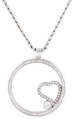 Roberto Coin 18K Diamond Floating Heart Pendant Necklace
