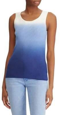 Lauren Ralph Lauren Ombre Stretch Cotton Tank Top
