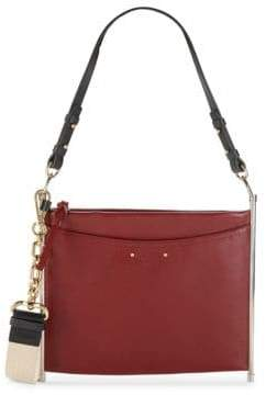 Roy Canvas Strap Grained Leather Bag