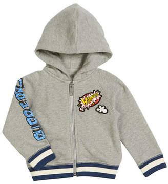 Burberry Manning Cartoon Hooded Jacket, Size 12M-3