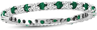 LeVian Suzy Diamonds Suzy 14K 0.55 Ct. Tw. Diamond & Emerald Eternity Ring