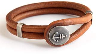 Madmenjewelry Anchor Brown leather Bracelet