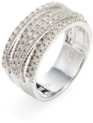 Rina Limor Fine Jewelry Silver Diamond Criss Cross Ring