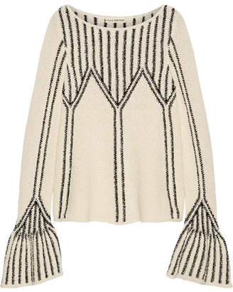 Ulla Johnson - Beatriz Bouclé-knit Cotton Sweater - Cream $415 thestylecure.com