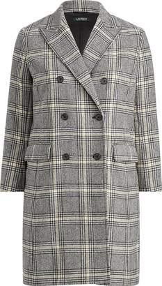 Ralph Lauren Plaid Wool-Blend Trench Coat