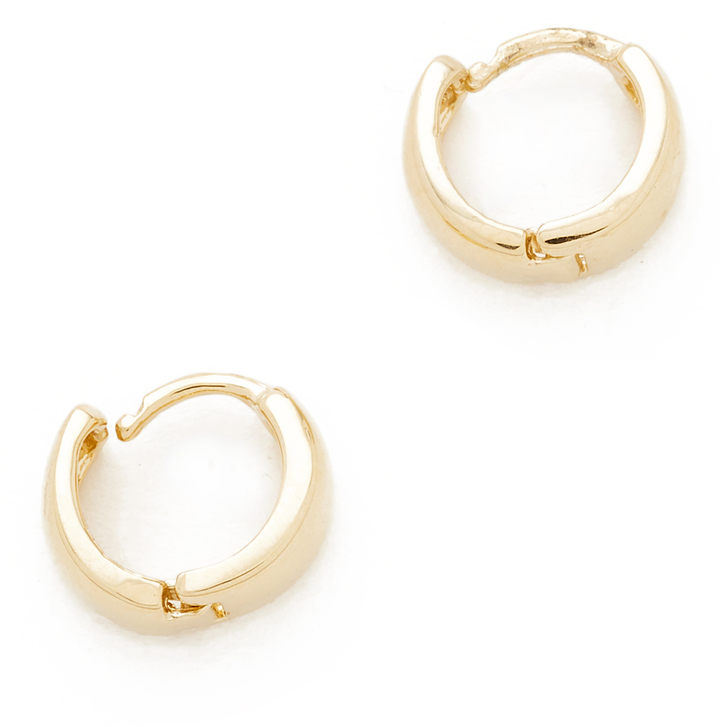 AdinaAdina Reyter Wide Huggie Hoop Earrings
