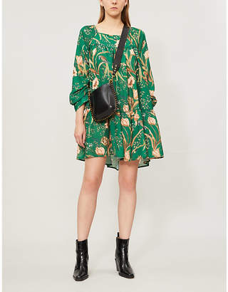 Selfridges Happy X Nature Luna floral-print recycled-polyester mini dress