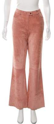 Gucci Mid-Rise Leather Pants