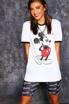 boohoo Disney Mickey Original Ringer Tee