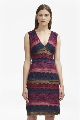 French Connection Dallaway Stripe Lace Pencil Dress
