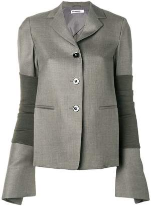Jil Sander arm band wide sleeve blazer