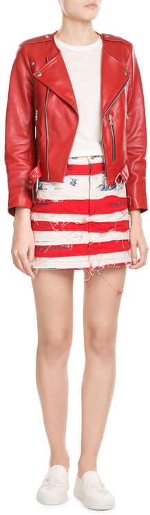 Marc JacobsMarc Jacobs American Flag Denim Mini Skirt