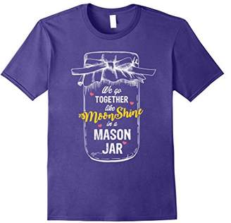Country T shirt for women - Moonshine and Mason Jars