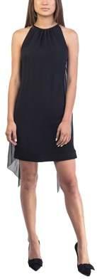 Prada Women's Acetate Viscose Blend Winged Dress Black.